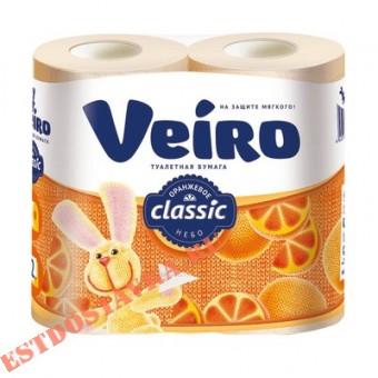 """Купить Бумага туалетная """"Linia Veiro"""" Classic желтая 2 слоя 4шт"""
