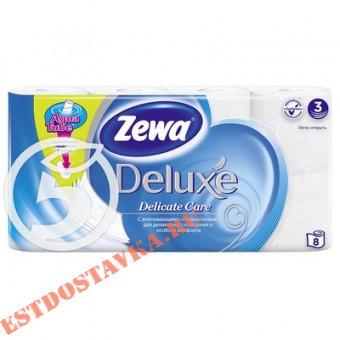 """Купить Бумага """"Zewa"""" Делюкс белая 8шт туалетная"""
