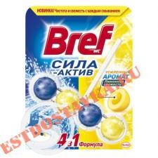 """Средств чистящее """"Bref"""" для унитаза Сила-Актив Лимонная Свежесть 50г"""