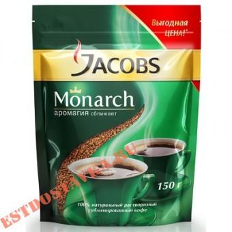 """Купить Кофе """"Jacobs"""" Monarch натуральный растворимый сублимированный 150г"""
