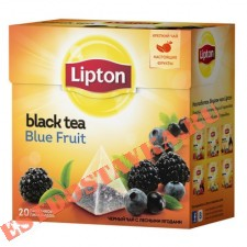 "Чай ""Lipton"" Blue Fruit Tea в пакетиках-пирамидках 20пак*1,8г"