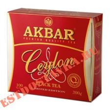 """Чай """"Akbar"""" Ceylon черный 100шт*2г"""
