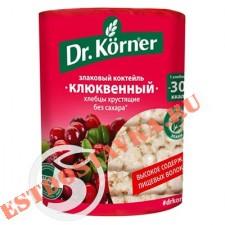 """Хлебцы """"Dr.Korner"""" Злаковый коктейль клюквенный 100г"""