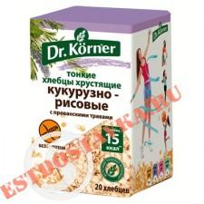 """Хлебцы """"Dr.Korner"""" Кукурузно-рисовые с прованскими травами 100г"""