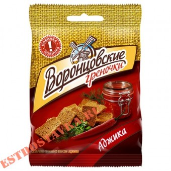 """Купить Сухарики-греночки """"Воронцовские"""" ржаные со вкусом аджики 60г"""