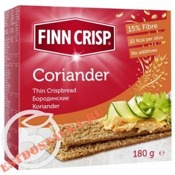 """Купить Сухарики """"Finn Crisp"""" Coriander бородинские с кориандром 180г"""