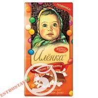 """Шоколад """"Аленка"""" молочный с разноцветным драже 100г"""
