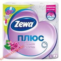 "Бумага ""Zewa"" туалетная Плюс сирень 2-х слойная 4шт"