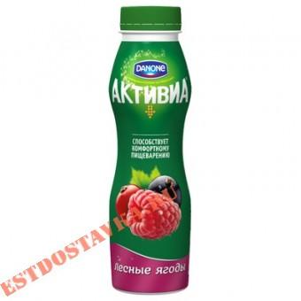 """Купить Биойогурт """"Активиа"""" обогащенный бифидобактериями ActiRegularis лесные ягоды 2,1 290г"""