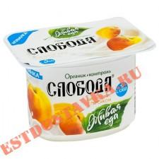 "Биойогурт ""Слобода"" с персиком 2,9% 125г"