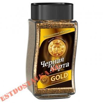 """Купить Kофе """"Черная Карта"""" расстворимый Gold 190г"""