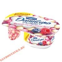 """Йогурт """"Данон Фантазия"""" Даниссимо драже хрустящие шарики с ягодным вкусом 6.9% 105г"""