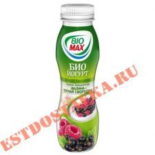 """Биойогурт """"Bio-Max"""" питьевой малина и черная смородина 2,7% 270г"""