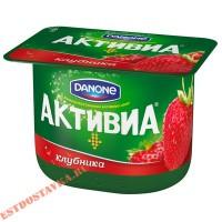 """Биойогурт """"Активиа"""" клубника 2,9% 150г"""