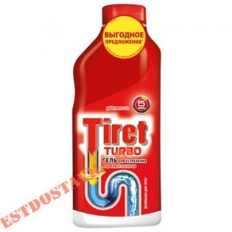 """Купить Гель """"Tiret"""" Turbo для удаления засоров в трубах 500мл"""