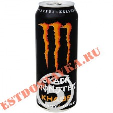 "Напиток ""Black Monster"" Khaos Energy + Juice энергетический 500мл"