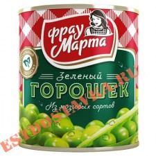 "Горошек ""Фрау Марта"" зеленый ж/б 310г"