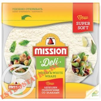 """Купить Лепешки """"Mission"""" Тортильи пшеничные со злаками 250г"""