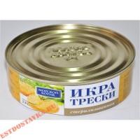 """Икра """"Морской Котик"""" трески 240г"""