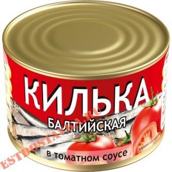 Купить Килька балтийская неразделанная в томатном соусе 240г