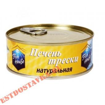 """Купить Печень трески """"Fish House"""" натуральная 230г"""
