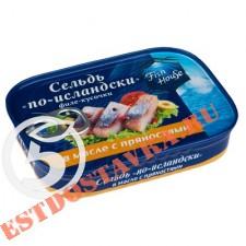 """Сельдь """"Fish House"""" по-исландски филе-кусочки в масле с пряностями 115г"""