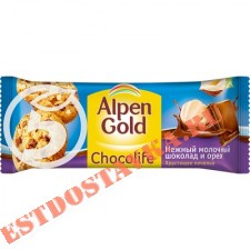 """Печенье """"Alpen Gold"""" Chocolife с молочным шоколадом 135г"""