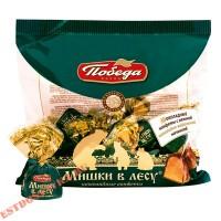 """Конфеты """"Победа"""" шоколадные Мишка В Лесу с шоколадно-вафельной начинкой 200г"""