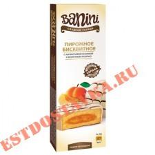 """Пирожное """"Banini"""" бисквитное с абрикосовой начинкой и молочной глазурью 105г"""