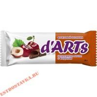 """Батончик """"Леовит"""" Darts Шоколад и Вишня с фундуком 50г"""
