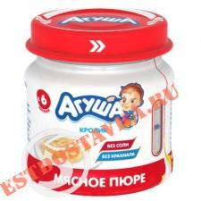 """Пюре """"Агуша"""" мясное Кролик 7% 80г"""