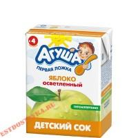 """Сок """"Агуша"""" Яблоко осветленный 200мл"""