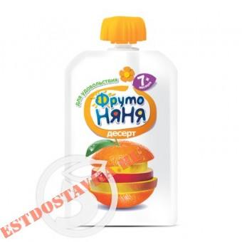 """Купить Десерт """"Фрутоняня"""" из яблок, банана, апельсина, манго для детского питания 90г"""