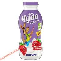 """Йогурт """"Чудо Детки"""" питьевой клубничный 2,2% 200г"""