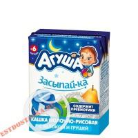 """Каша """"Агуша"""" рисовая молочная Яблоко и груша 2,7% 200мл"""