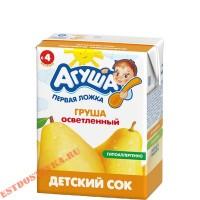 """Сок """"Агуша"""" Груша осветленный 200мл"""