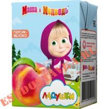 """Нектар """"Маша И Медведь"""" Ладушки персик-яблоко с мякотью с 5 месяцев 0,2л"""
