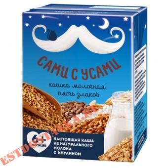 """Купить Каша """"Сами С Усами"""" готовая молочная 5 злаков с 6 месяцев 0,2л"""