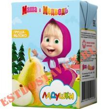"""Нектар """"Маша И Медведь"""" Ладушки груша и яблоко с мякотью, с 5 месяцев 0,2л"""