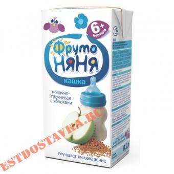 """Купить Каша """"Фрутоняня"""" молочно-гречневая с яблоком 0.2л"""