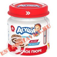 "Пюре ""Агуша"" мясное Говядина 6,2% 80г"
