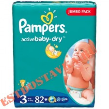 "Подгузники ""Pampers"" Active Baby Midi (5-9кг) 82шт"