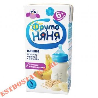 """Купить Каша """"Фрутоняня"""" молочная овсяная с бананами 0,2л"""