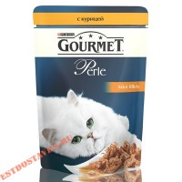 "Корм ""Gourmet"" Perle С курицей для кошек 85г"