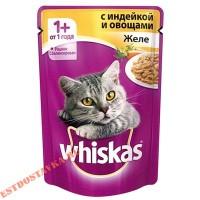 "Желе ""Whiskas"" индейка с овощами 85г"