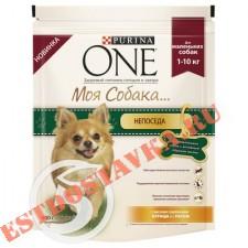 """Корм """"Purina One"""" Моя Собака курица и рис для взрослых собак мелких пород 600г"""