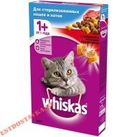 """Корм """"Whiskas"""" сухой полнорационный с говядиной для стерилизованных кошек 350г"""