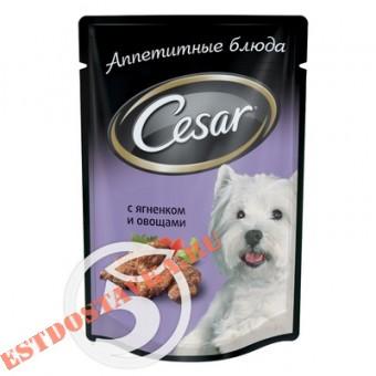 """Купить Корм """"Cesar"""" Ягненок и овощи для взрослых собак 100г"""