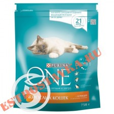 "Корм ""Purina One"" сухой с курицей и цельными злаками 750г"