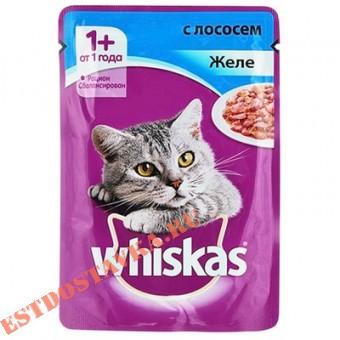 """Купить Желе """"Whiskas"""" с лососем 85г"""